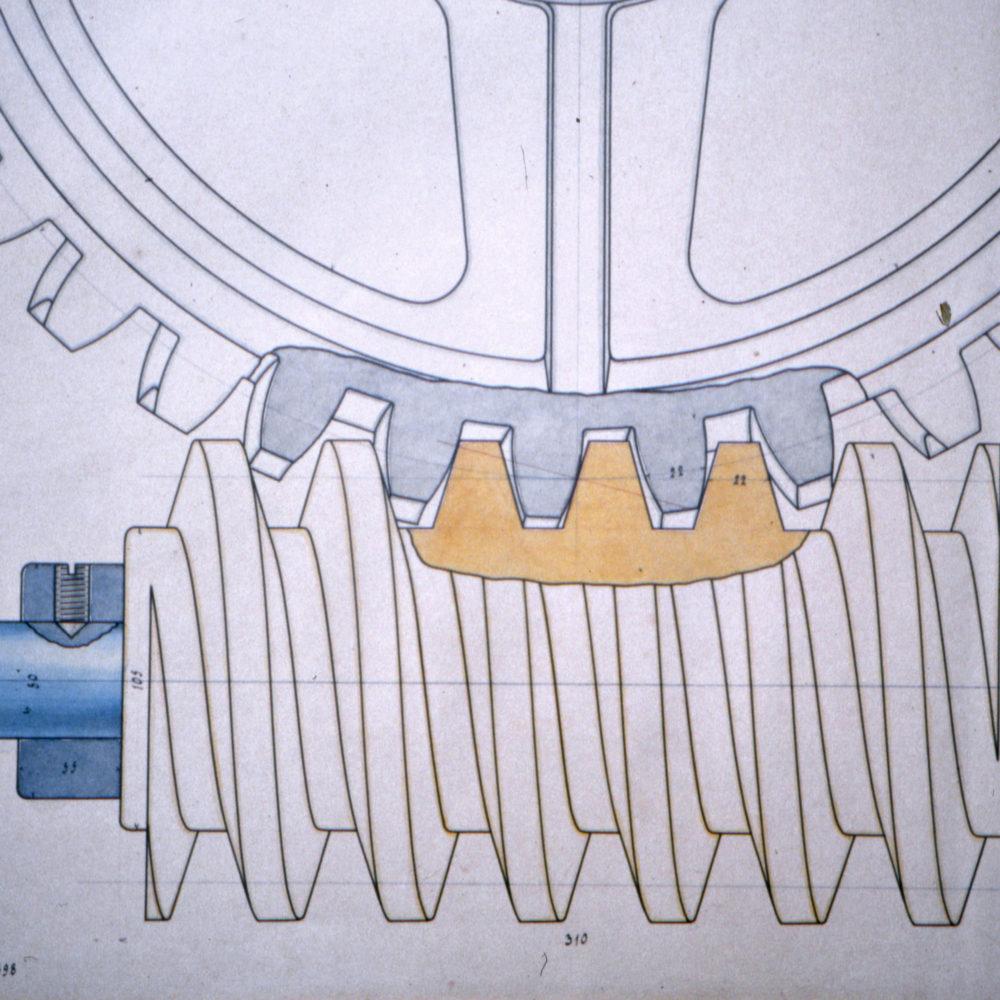 Zeichnung Getriebe 1898