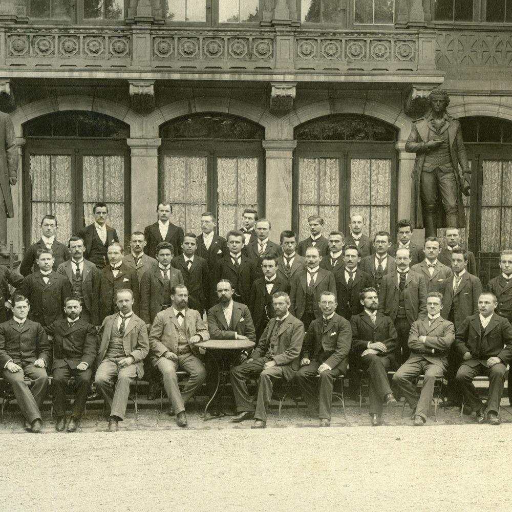 Ing.-Abschluss 1901, Fritz Tochtermann 2. Reihe 2. v.li.